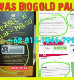 Bio stemcell Gold Palsu, Produk biogreen palsu, bio stemcell gold asli dan palsu, bahaya konsumsi suplemen palsu.