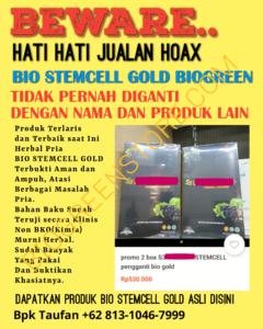 Bukan Pengganti Bio Gold, Bio Strmcell Gold Biogreen