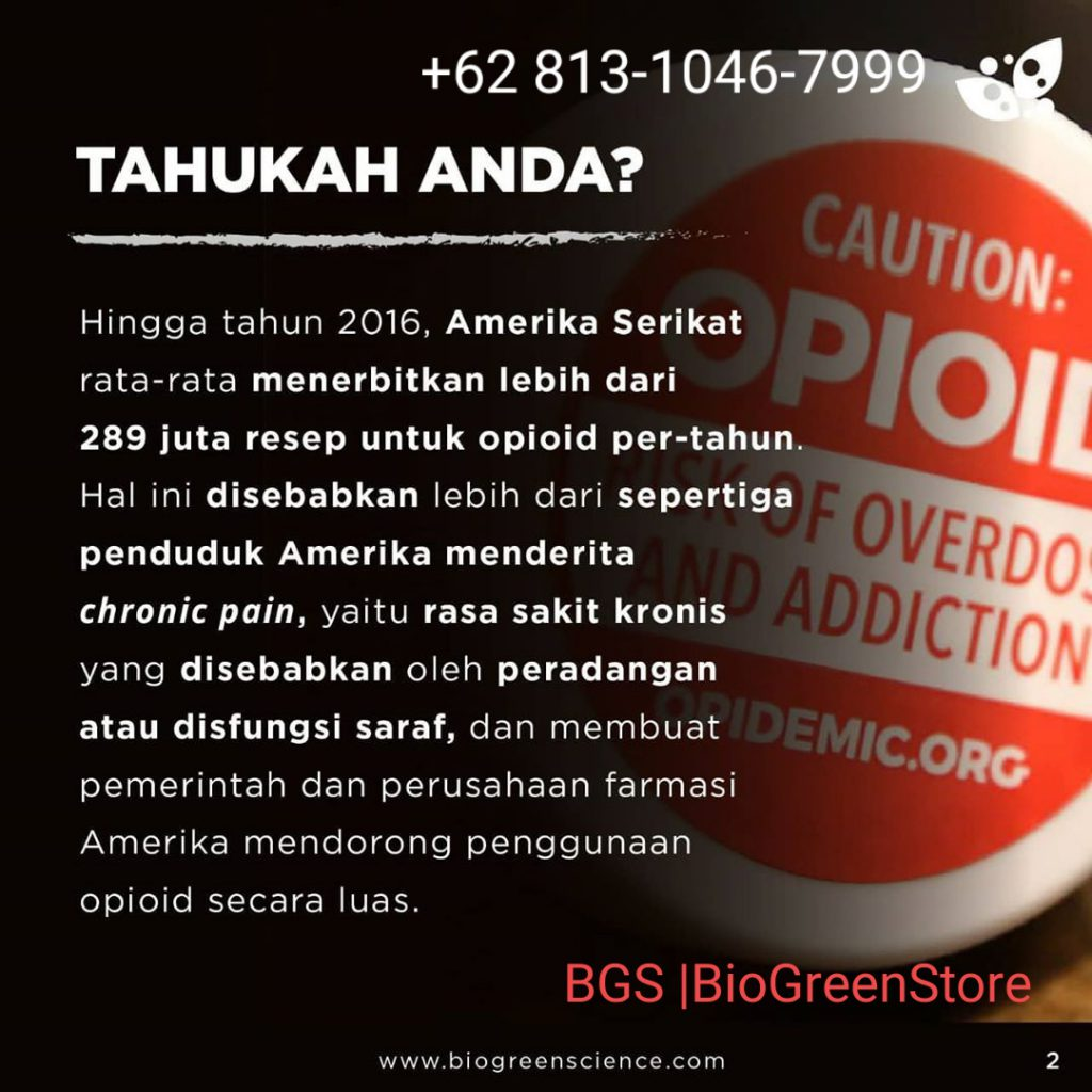 Bahaya Painkiller bisa membunuhmu, bio inflavia Biogreen