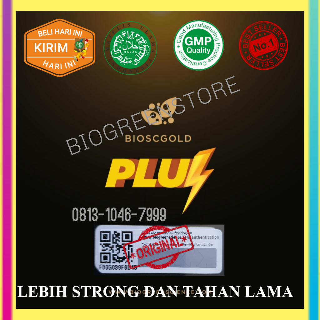 Herbal Kuat Pria, Biogold Pluz/Biogold plus Biogreen