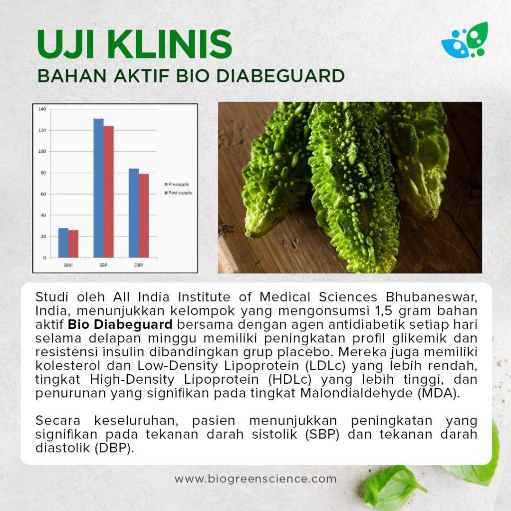 Uji klinis Bahan Baku Bio diabeguard, Obat herbal diabetes biogreen